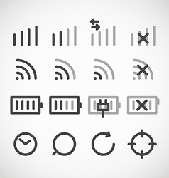 Modern gadget web icons collection vector image