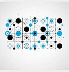 Modular bauhaus blue background created from vector