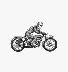 motorcycle for biker club templates vintage vector image