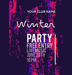 Night party banner template vector