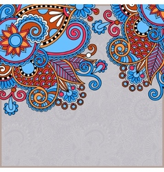 ornate floral card announcement vector image