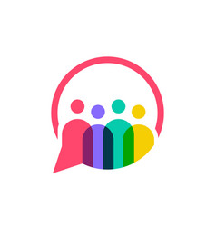 people family together human unity chat bubble vector image
