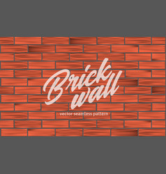 red brick wall texture seamless pattern vector image
