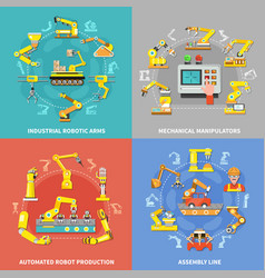 Robotic arm concept vector