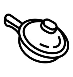 sauce pan icon outline style vector image