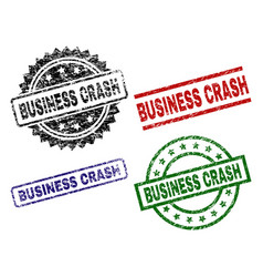 scratched textured business crash seal stamps vector image