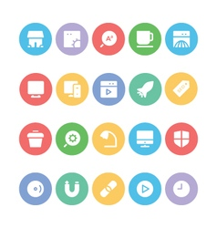 SEO and Marketing icons 9 vector image