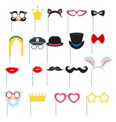 set of carnival masks concept design for greeting vector image