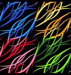 set of pattern from colored intersecting flowing vector image