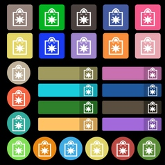 shopping bag icon sign Set from twenty seven vector image