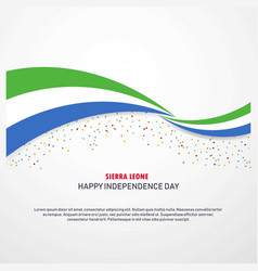sierra leone happy independence day background vector image