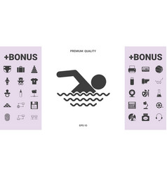 swim icon symbol - graphic elements for your vector image