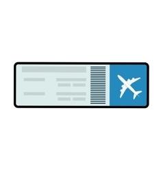 Ticket airplane plane travel paper icon vector