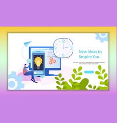 time management analysis inspiring idea banner vector image