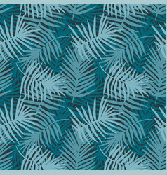 Tropical turquoise decorative pattern vector