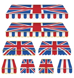 Uk awning decorations vector