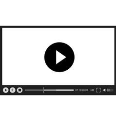 Web player on white background vector
