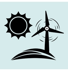 Alternative energy design vector image