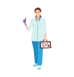 Nurse doctor character isolated vector image vector image