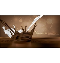 sweet chocolate milk and spray texture vector image vector image