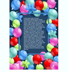 happy birthday festive template vector image