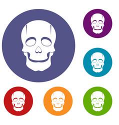 Singer mask icons set vector