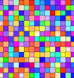 Abstract colorful background with squares vector image