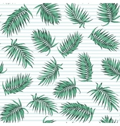 Blue green exotic tropical palm leaves pattern vector image