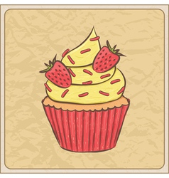 cupcakes10 vector image vector image
