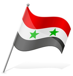 Flag of syria vector