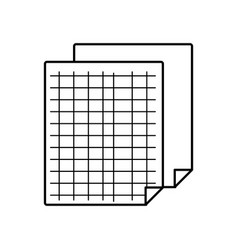 Grid sheet to study and write activities vector