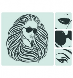 long hairstyle vector image