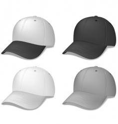 baseball caps black and grey vector image vector image