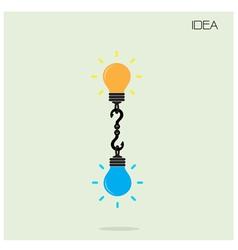 Creative light bulb Idea concept background vector image vector image