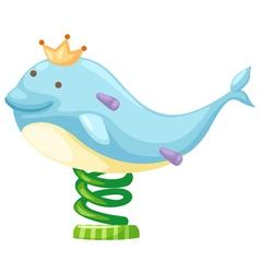 dolphin amusement park vector image vector image