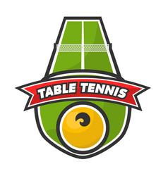 table tennis logo vector image vector image