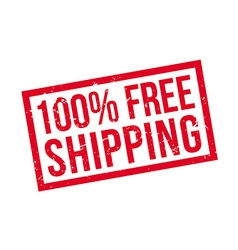 100 percent free shipping rubber stamp vector image
