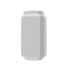 a beer tin flat style front vector image