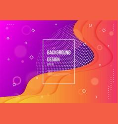 abstract fluid color neon color liquid vector image