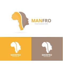 africa and face logo combination safari vector image