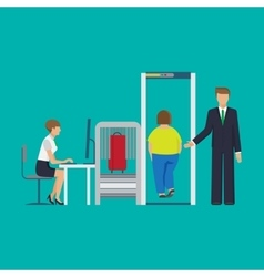 Airport security equipment for scanning vector