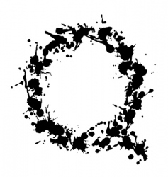 alphabet ink q vector image
