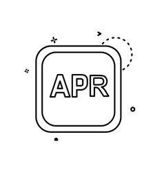 april calender icon design vector image