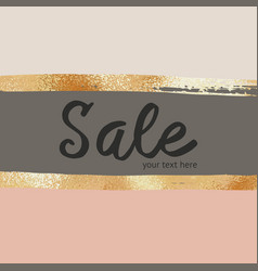 Background with imitation rose gold foil vector