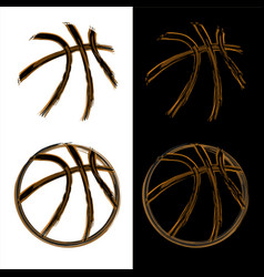 basketball grunge banners vector image