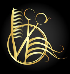 Beauty salon and hairdresser symbol vector