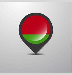 Belarus map pin vector