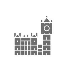 big ben historic building with clock in london vector image