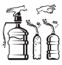 bottles with water vector image