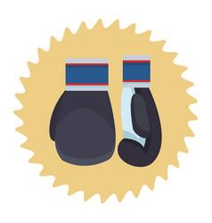 boxing gloves cartoon vector image